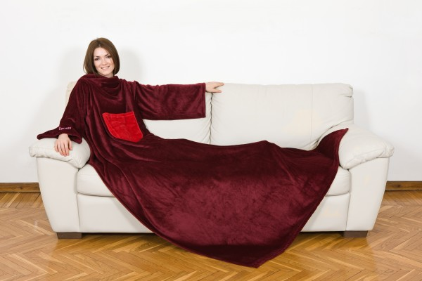 Kuscheldecke Fleece Rot