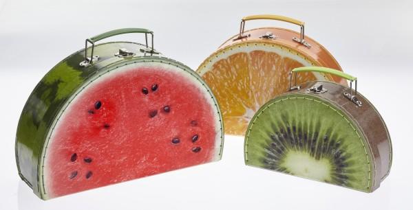 TURBO PRODUKTE Papierkoffer Frucht - 3er Set